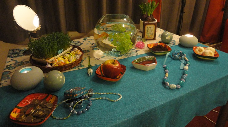 Haft-seen (the seven 'S's) table